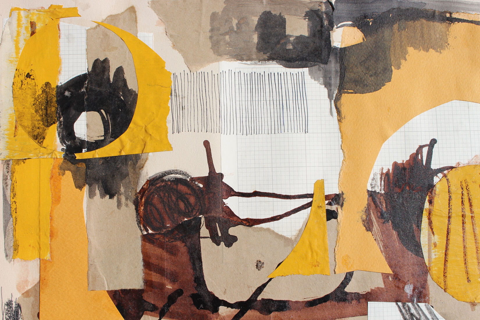 Lucinda McDonald: Collage with Ink