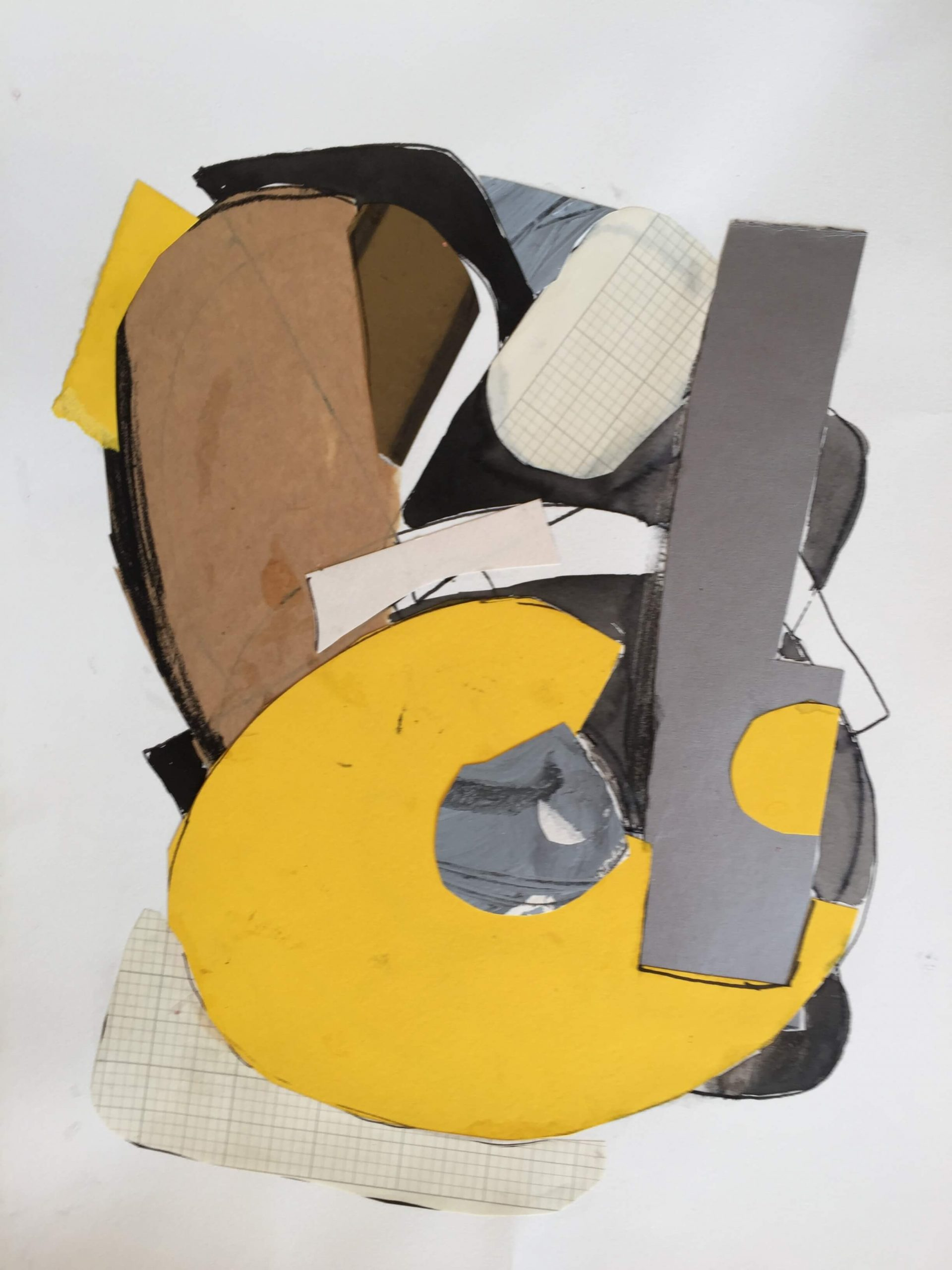 Lucinda McDonald: Collage with Yellow