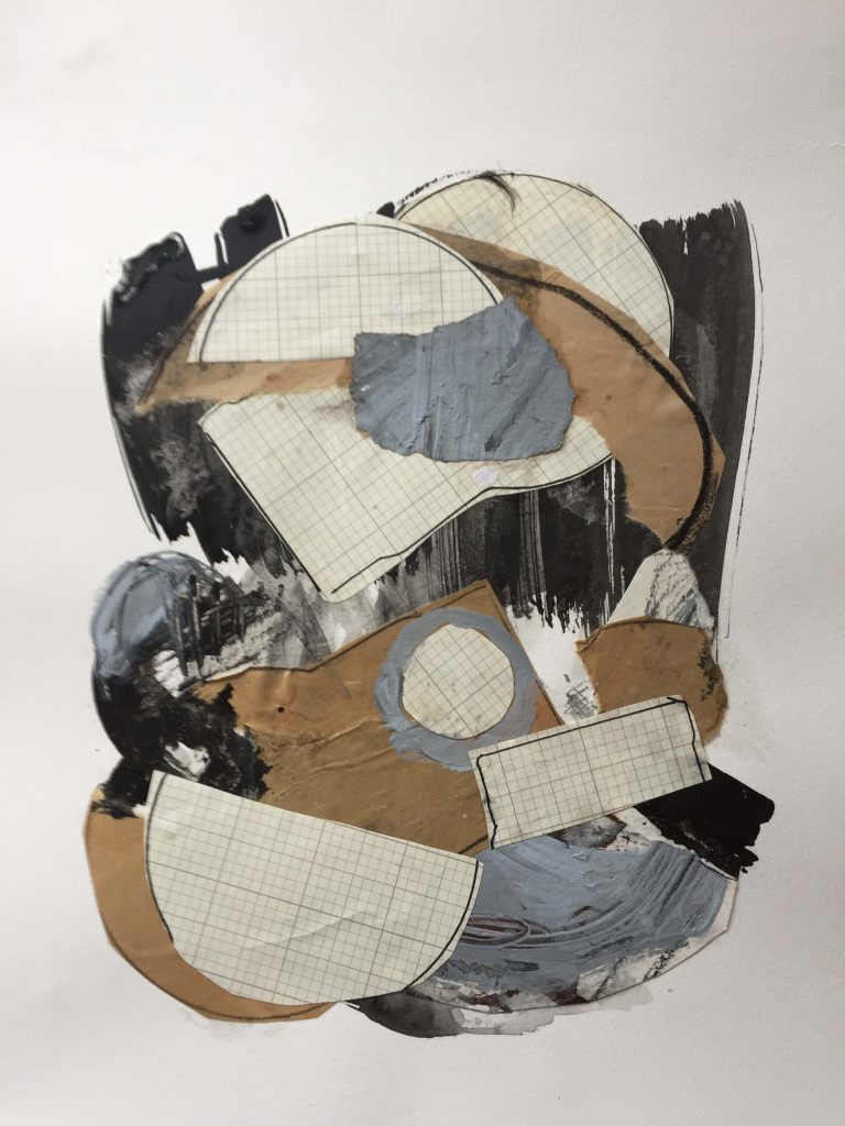 Lucinda McDonald: Collage with Grid Paper