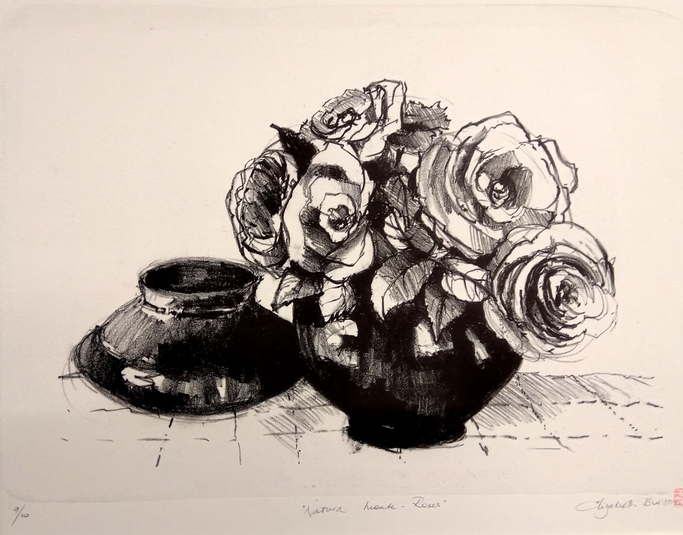 Liz Burton: Natura Morte - Lithograph
