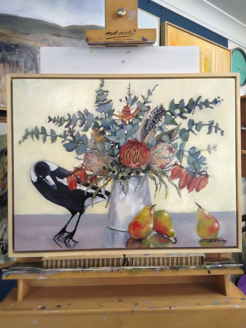 Liz Burton: Wildflowers with Magpie