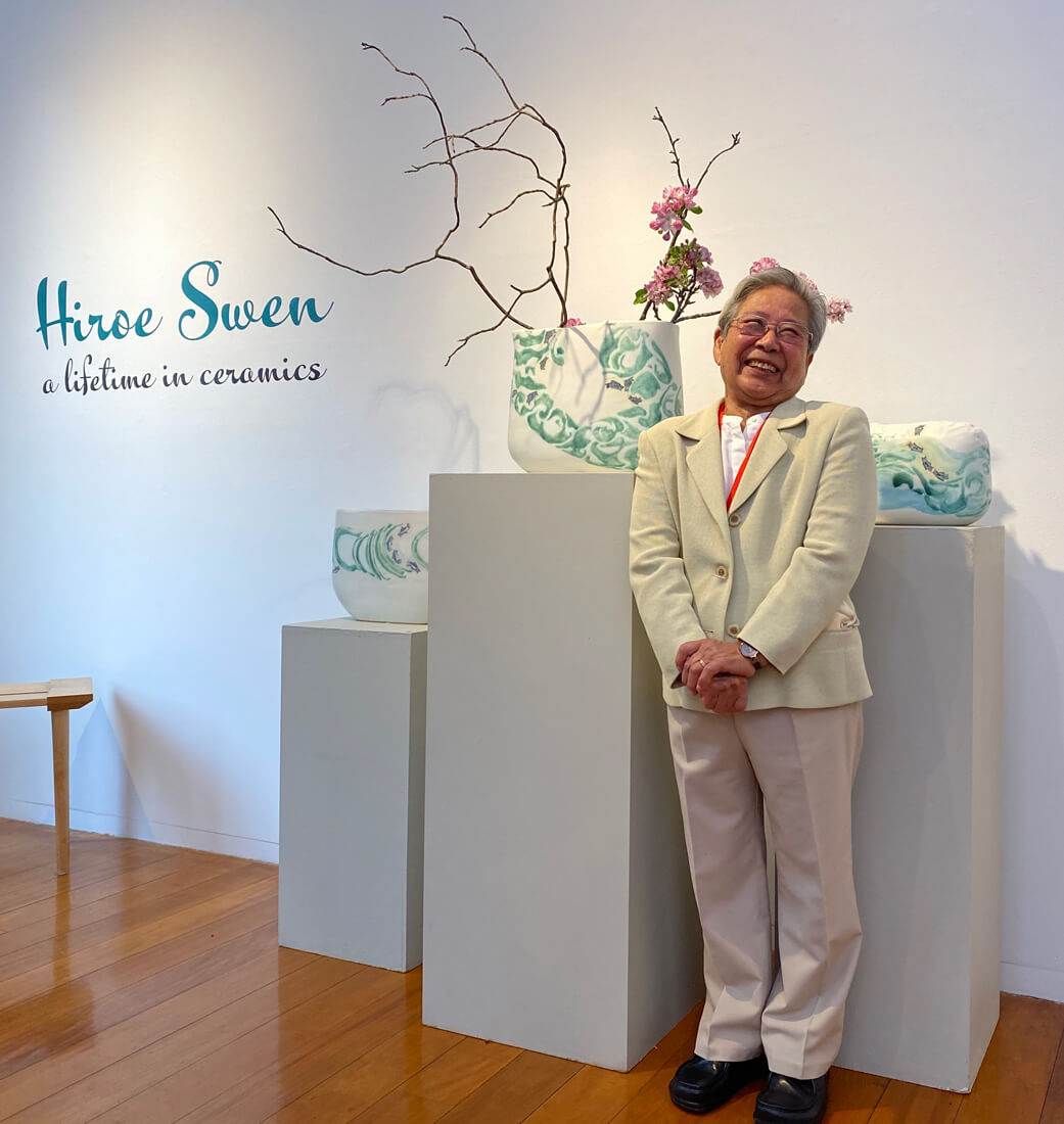 Hiroe Swen at the exhibition launch