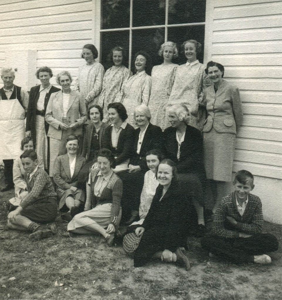 Winifred West, staff and students, 1941