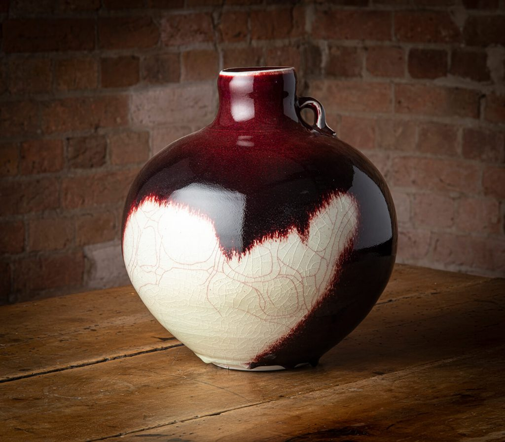 Campbell Hegan, Vase, porcelain, copper red glaze, c1990s. Image, Ashley Mackevicius